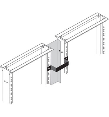 "Rear Vertical Management Brackets, 3"", 6.00 ""D"