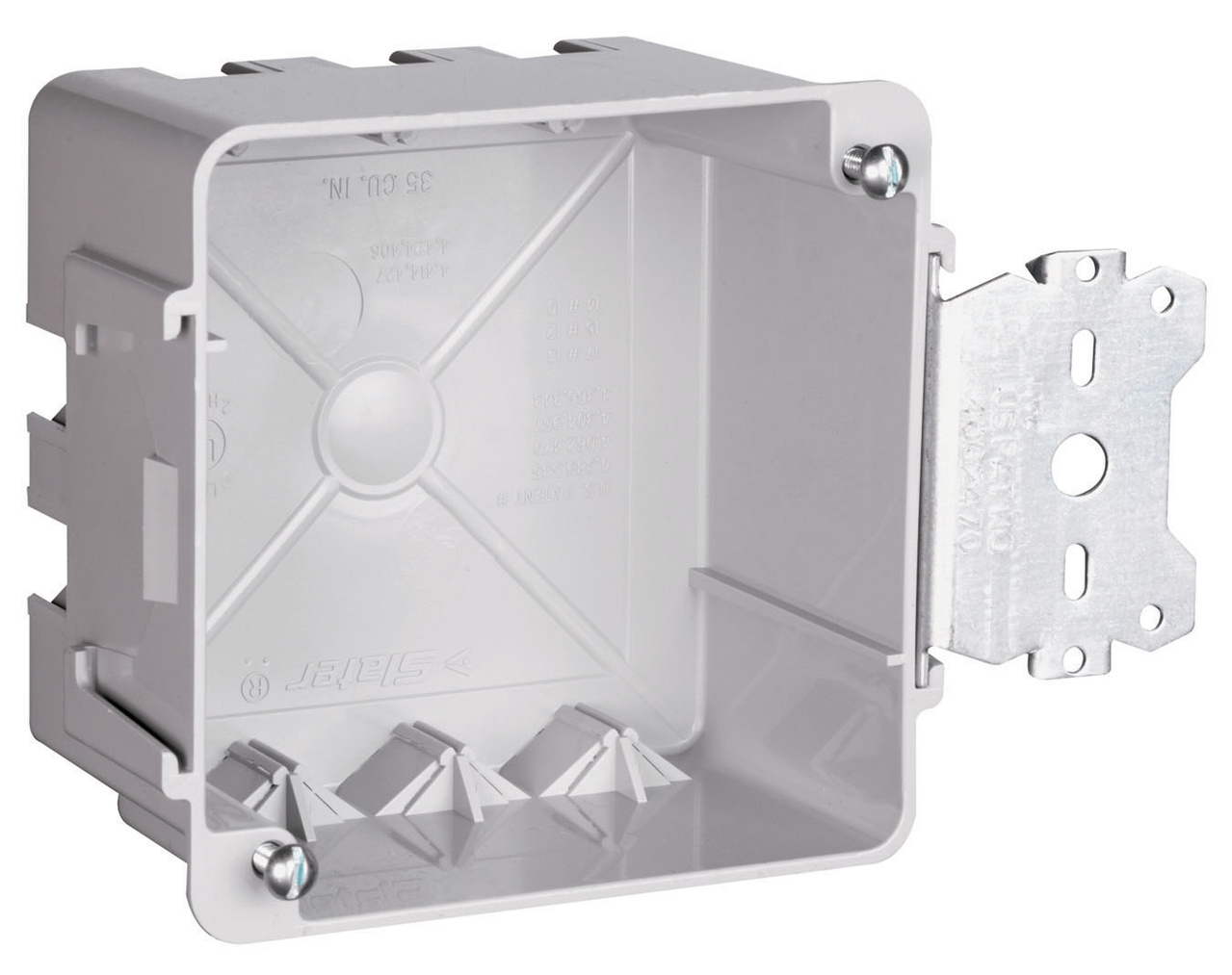 "4"" Square box with Threaded Mounting Holes, S4435SAC"