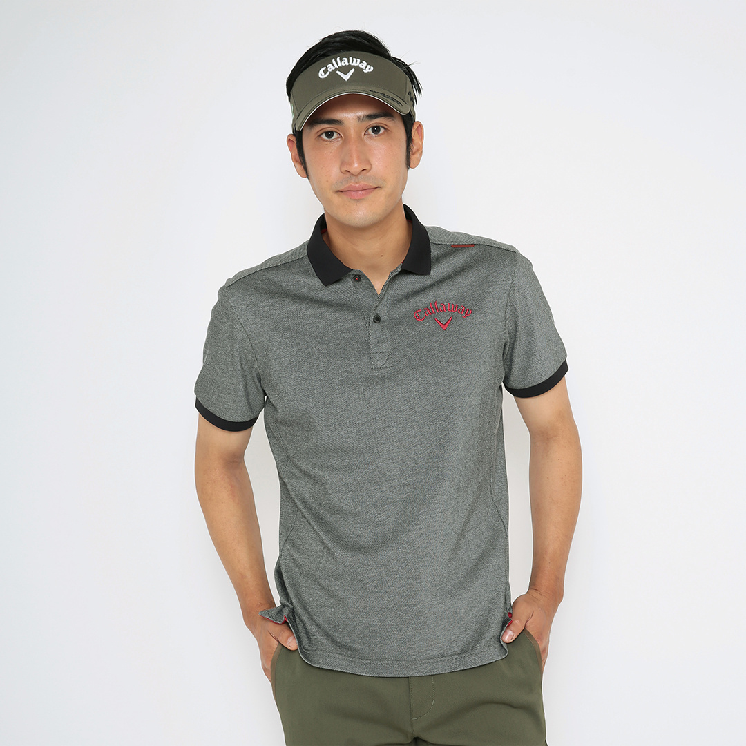 CALLAWAY RED LABEL  ツアープロエディション カノコジャン袖ポロシャツ (MENS)