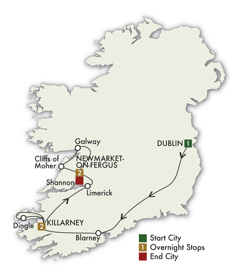 2021 Best of Ireland South (Tour D) - 6 Days/5 Nights