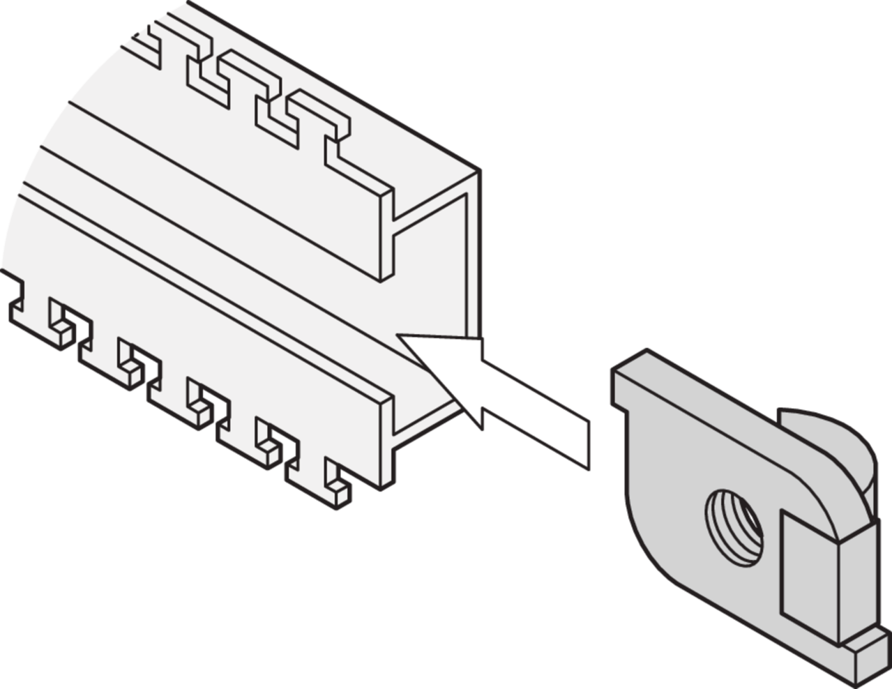 Image for C-Rail slide nut from Schroff - North America