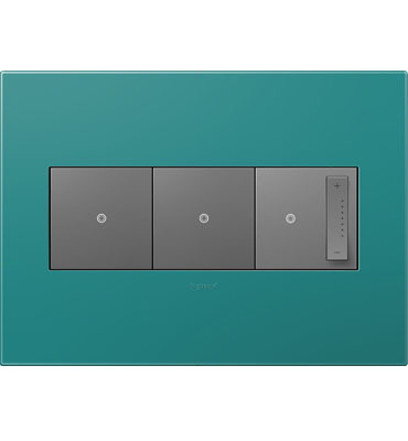 adorne 3-Gang Turquoise Wall Plate