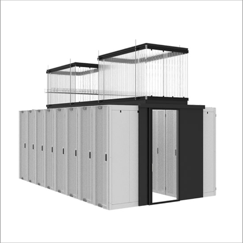 Aisle containment for cabinets in data centers