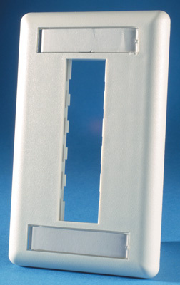 TracJack Faceplate, three-port (single gang), plastic, OR-40300547