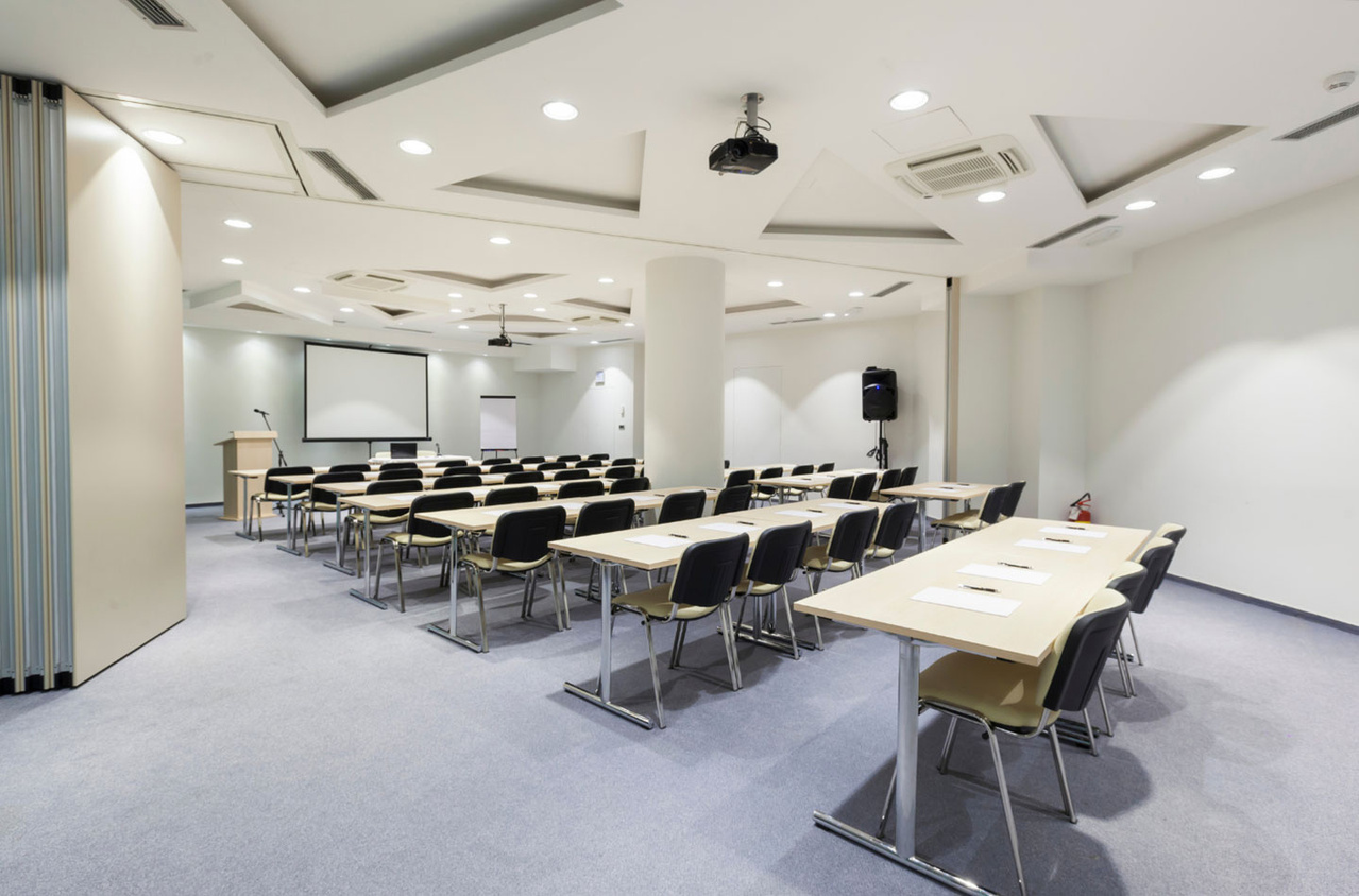 Classroom space with projector