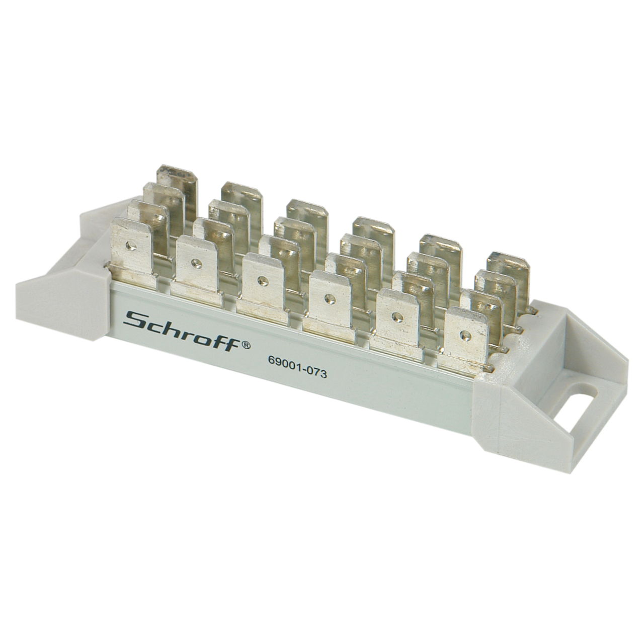 Image for Busbar, 4-pole for Faston connectors, 6.3 x 0.8 mm from Schroff | Europe, Middle East, Africa and India