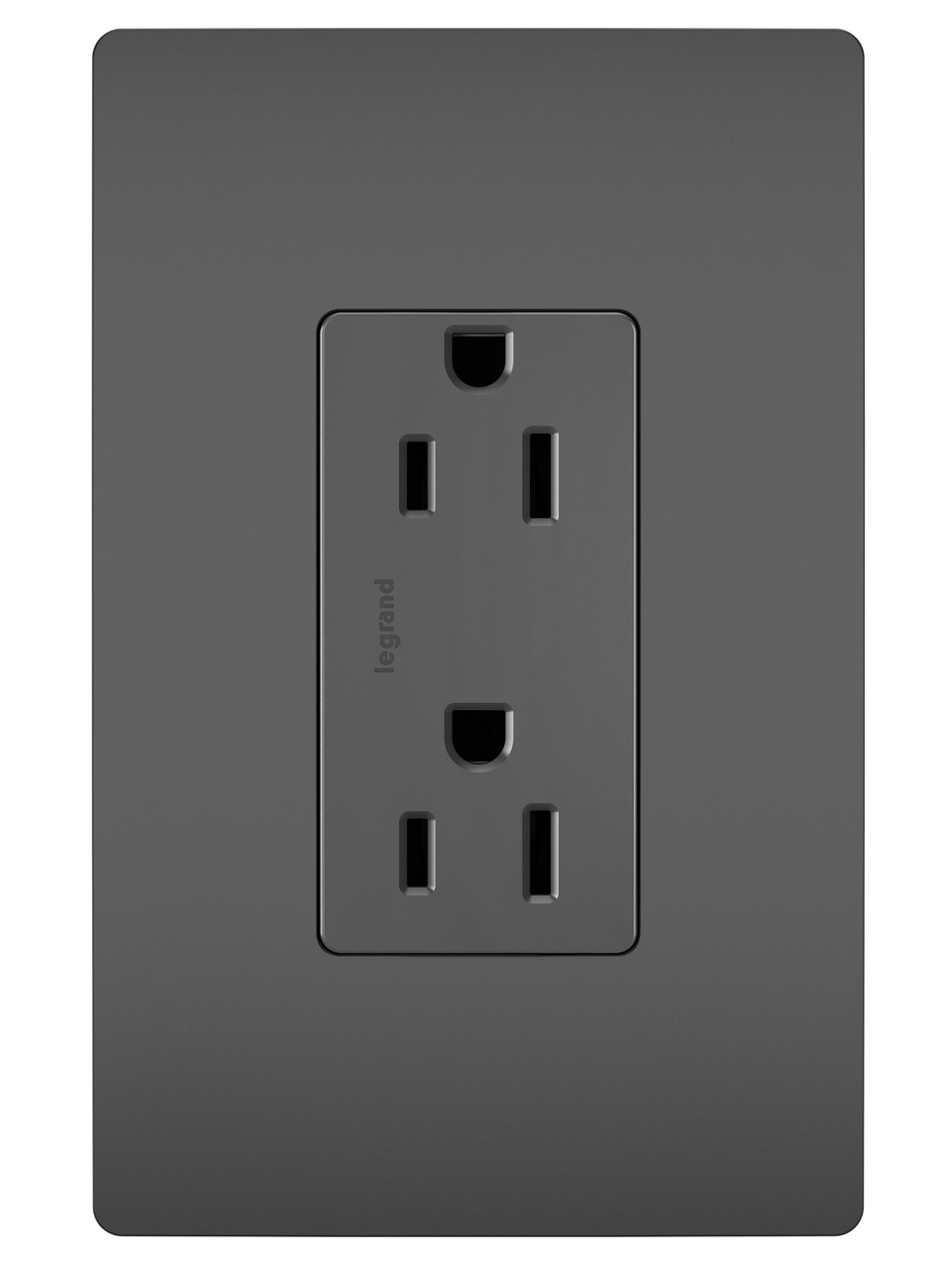 Duplex Receptacle, Black