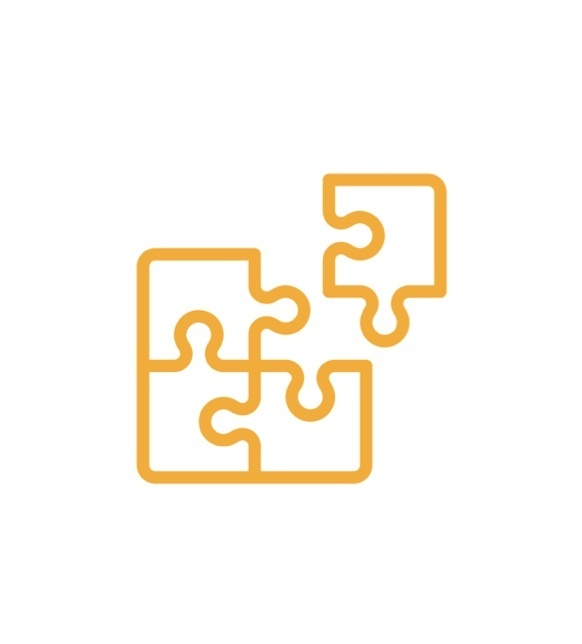 Puzzle piece icon in yellow
