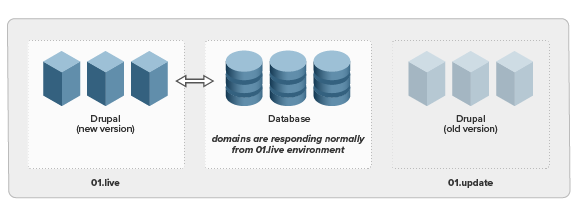 Domains respond normally from new environment