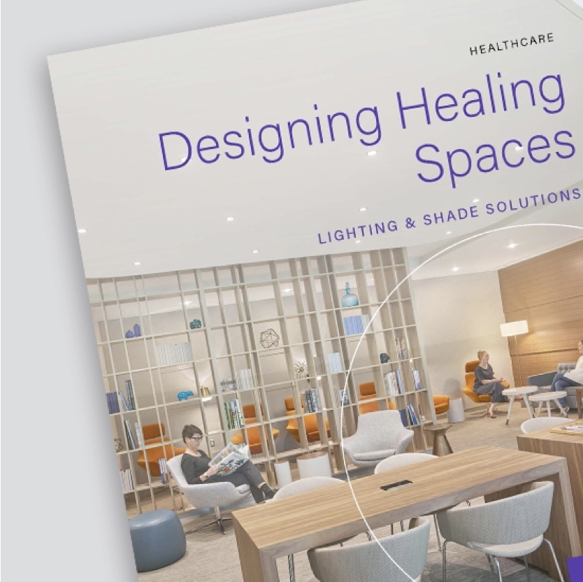 Screen grab of brochure showing Lighting and Shading Solutions from Legrand