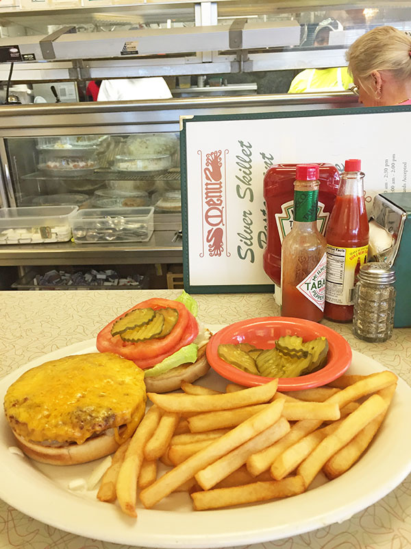 Traditional Southern restaurants aren't known for their vegetarian-friendly options, but The Silver Skillet does serve a killer veggie burger smothered in cheese.