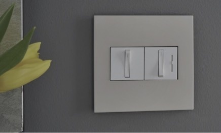 two gang whisper switch and dimmer from the adorne collection