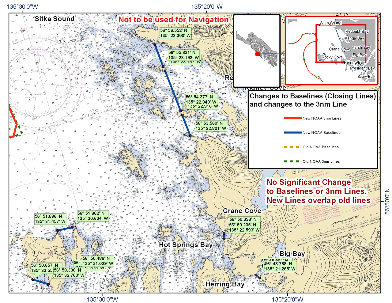 Chart for Redoubt Bay and the Surrounding Area