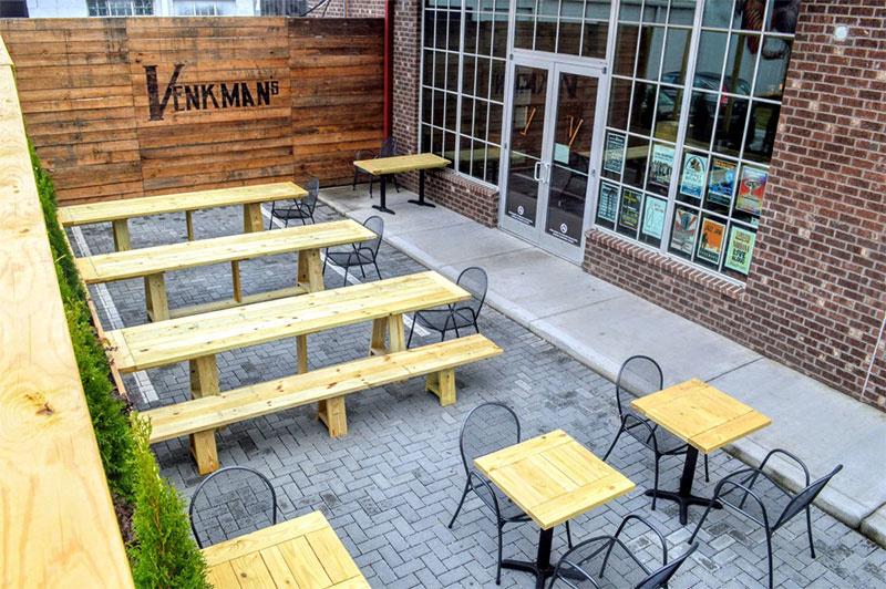 Enjoy a Beam Me Up on the Venkman's patio.