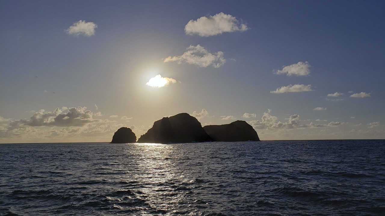 Sunrise at Mokumanamana, Northwestern Hawaiian Islands.