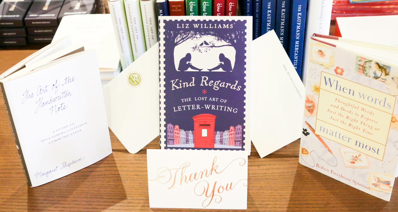 A selection of books and the proper stationary wardrobe is all you need to become a thank you note champion.