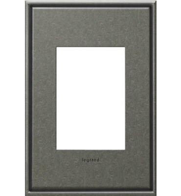 adorne 1-Gang+ Brushed Pewter Wall Plate