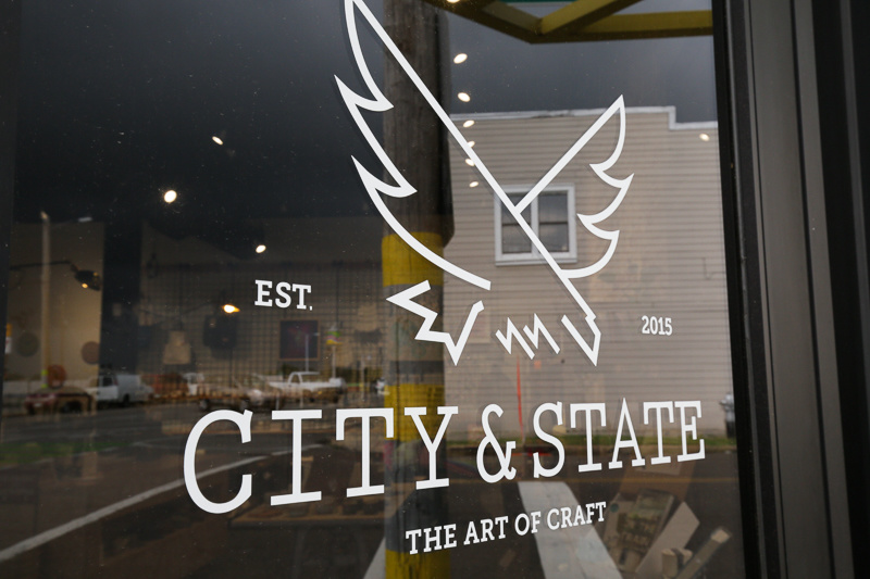 City & State occupies a great corner space on Broad Avenue, and features both the sleek coffee shop with food from Porcellino's, and a store dedicated to showcasing crafters and makers from across the country.