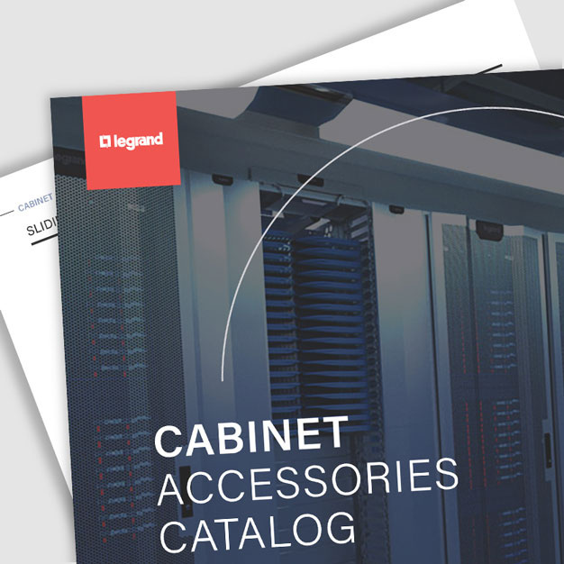 Screen grab of cabinet accessories catalog provided by Legrand
