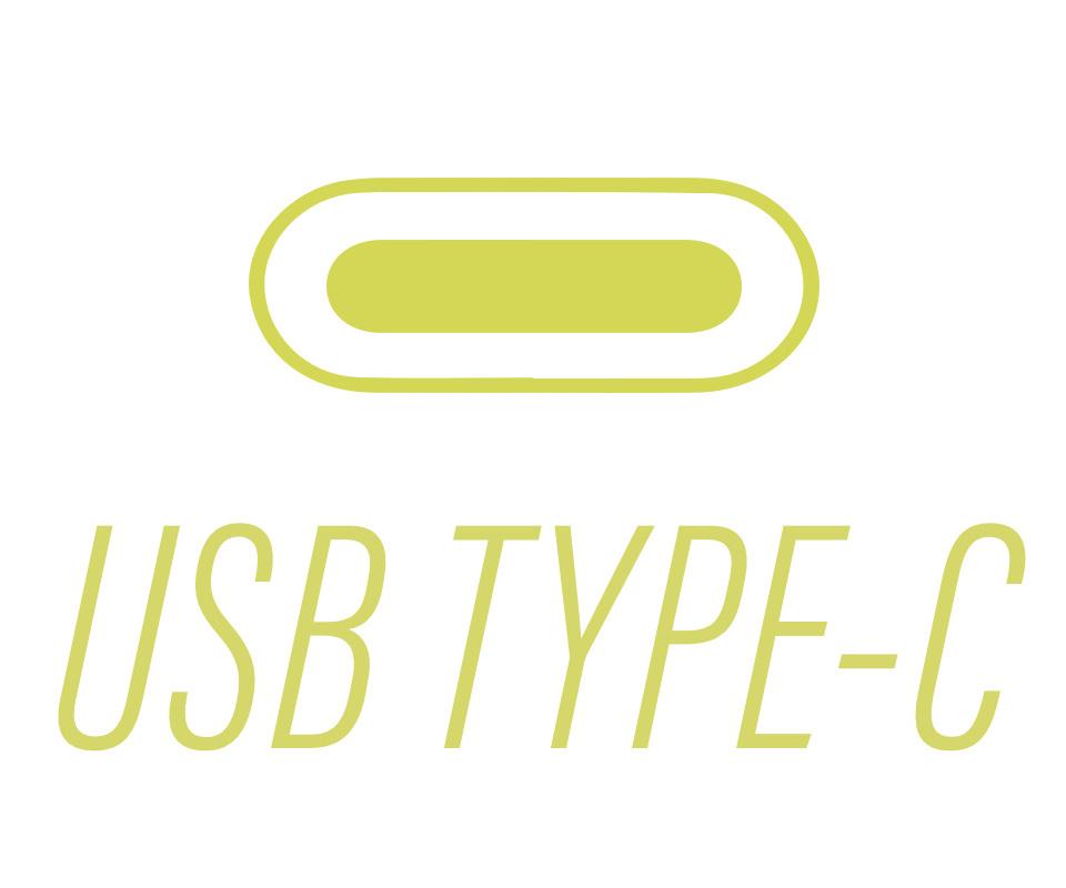 text that says usb type c