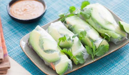 Tofu and Veggies Spring Rolls