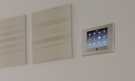 iPad in wall that controls home
