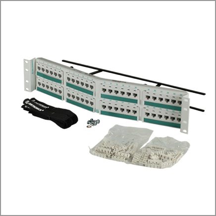 Patch panel products for data centers in white