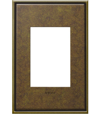 adorne 1-Gang+ Aged Brass Wall Plate