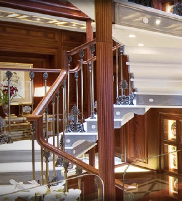 Yacht stair case
