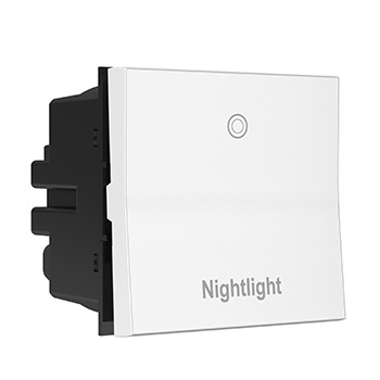 Engraved Paddle™ Switch, 20A, 4WAY, White- Nightlight