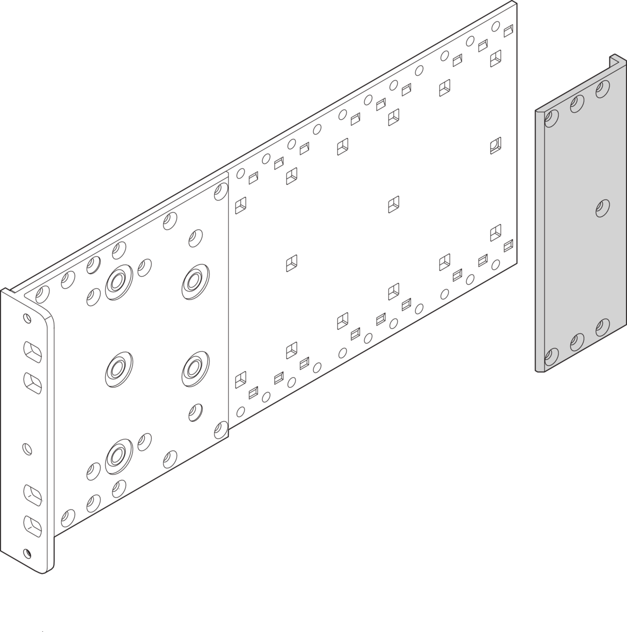Image for Corner profile, for type R side panels from Schroff - North America