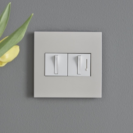 adorne Collection Whisper dimmer and light switch in designer wall plate
