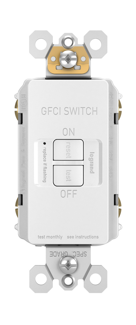 radiant® Spec-Grade Dead Front 20A Self-Test GFCI Receptacle ... on