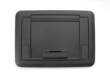 Surface Style Cover with Floor Insert Black Powder Coated Finish, EFB45CTCBK