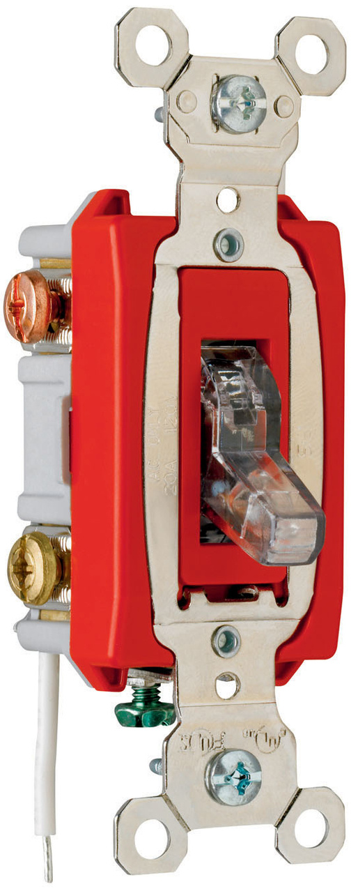 Industrial Extra Heavy-Duty Specification Grade Switch, Lighted When On, PS20AC3CPL