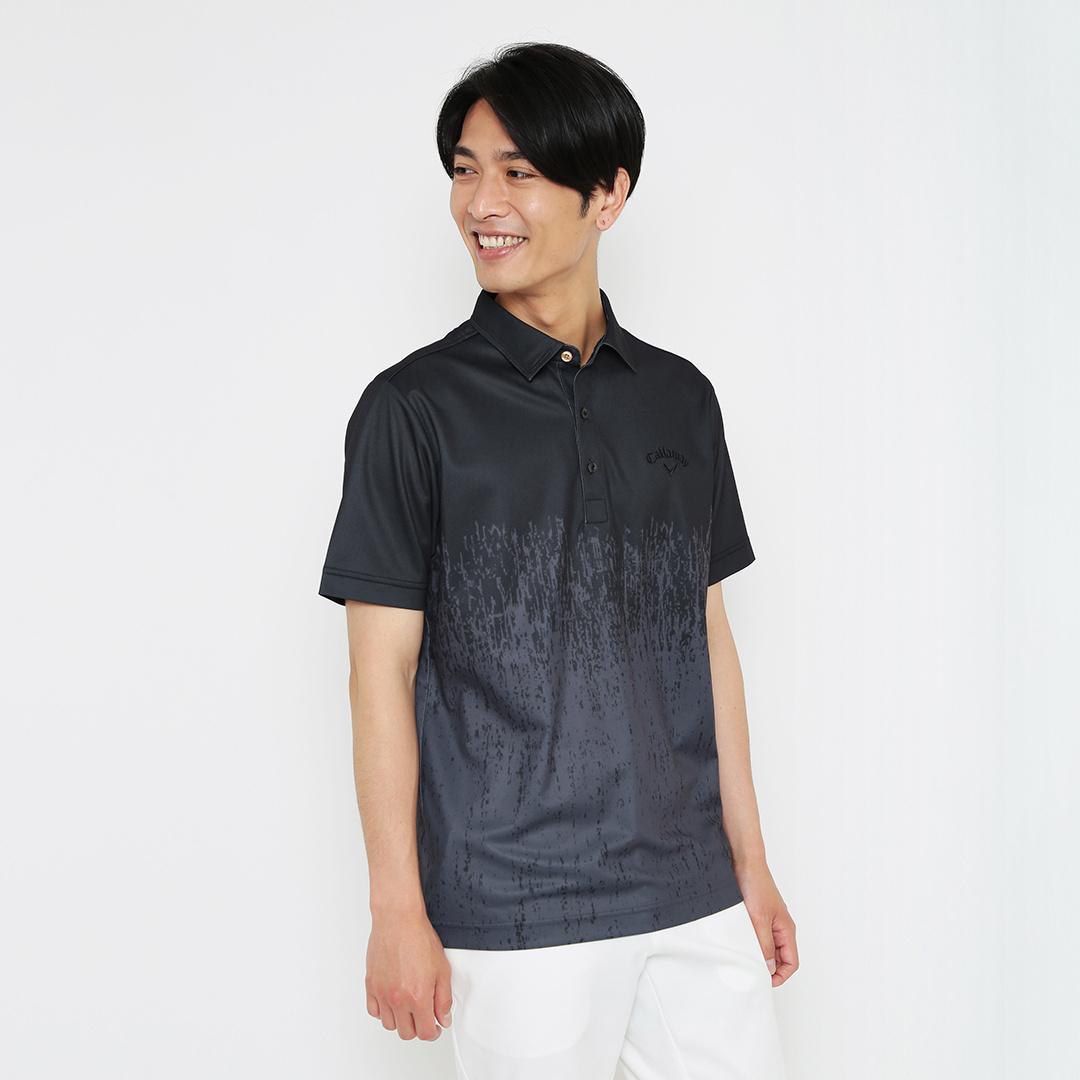 CALLAWAY カラマツプリントカノコ半袖シャツ (MENS)