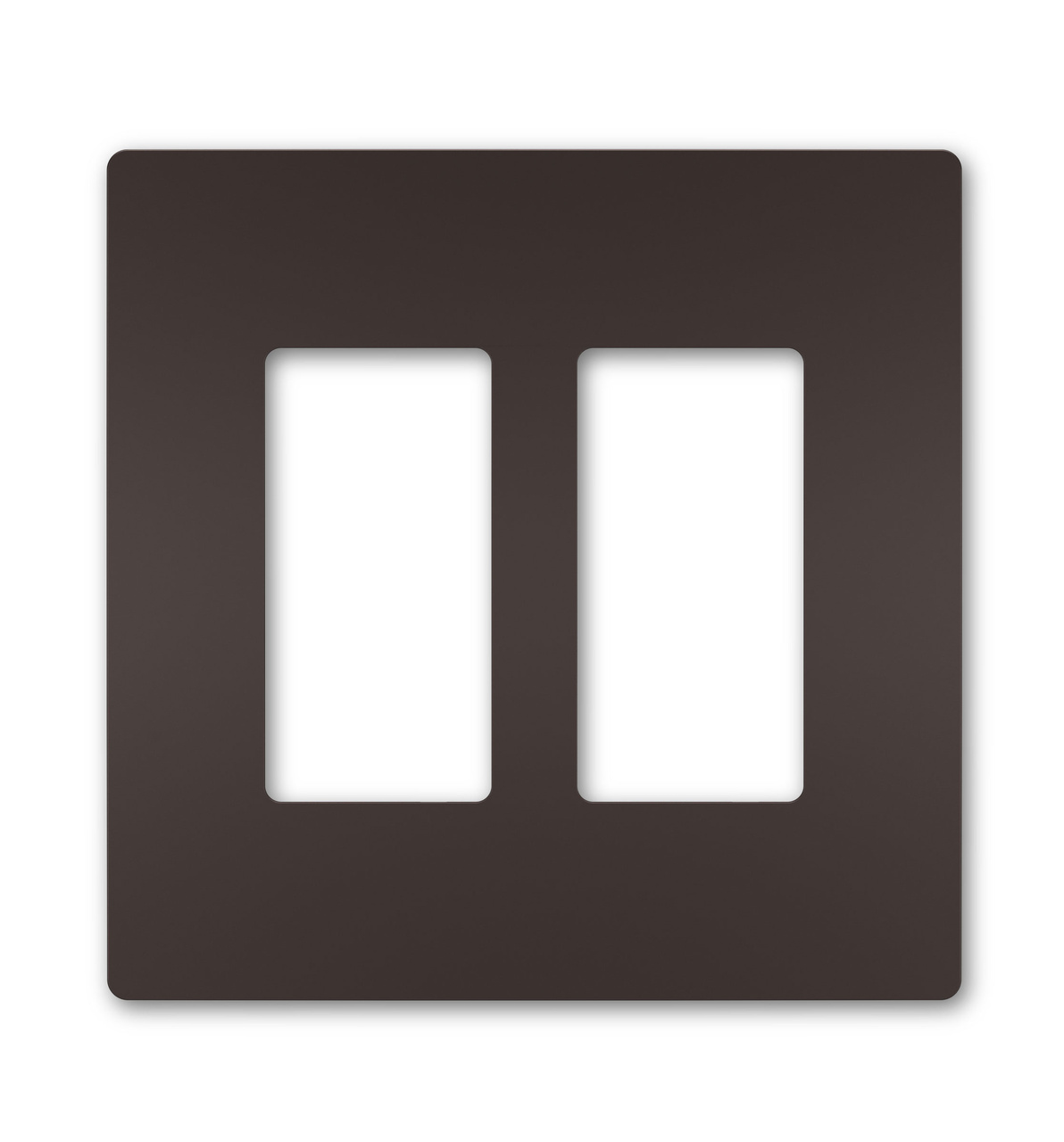 Two-Gang Screwless Wall Plate, Dark Bronze