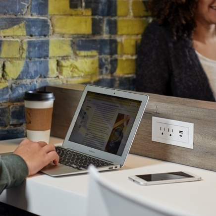 furniture power outlet in table