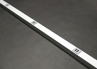 3 FT Aluminum All USB Plugmold, Also Avail 5' lengths, AL20USB312