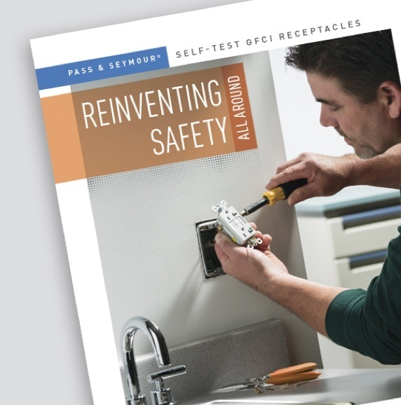 "Page from GFCI Pass & Seymour brochure titled ""Reinventing Safety"""