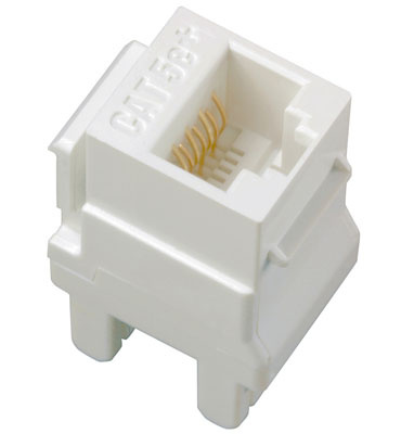 adorne Cat 5e RJ45 Data / Phone Insert, White