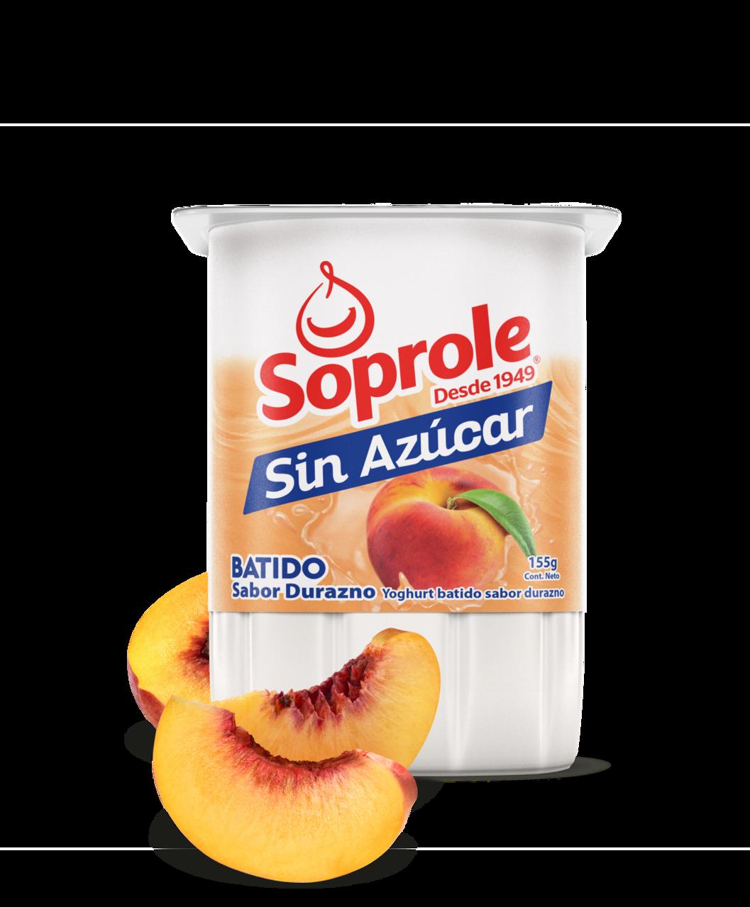 Soprole Yoghurt Batido sin Azúcar sabor durazno 155