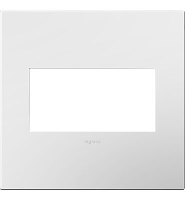 adorne 2-Gang White Wall Plate