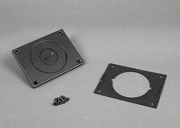 Powder-Coated Alum. Cover Plate, 829CKAL-3/4BK