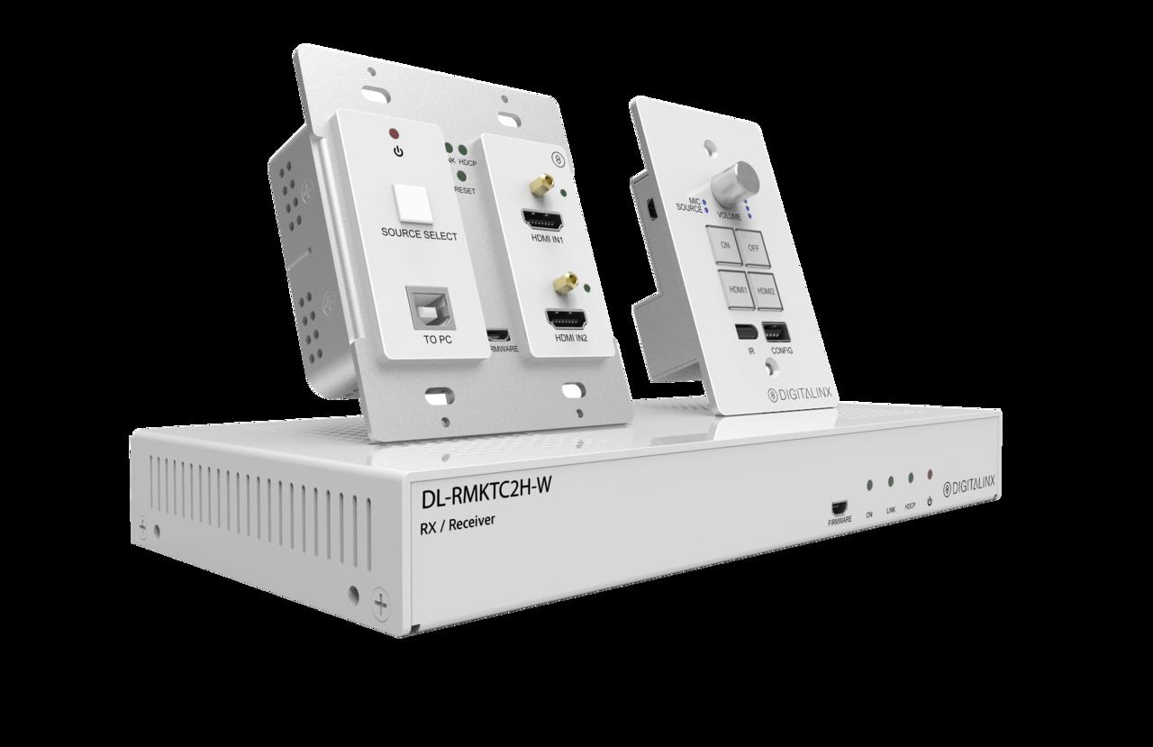 DL-RMKTC2H-W - HDMI & USB 2.0 Extender and Keypad Control System