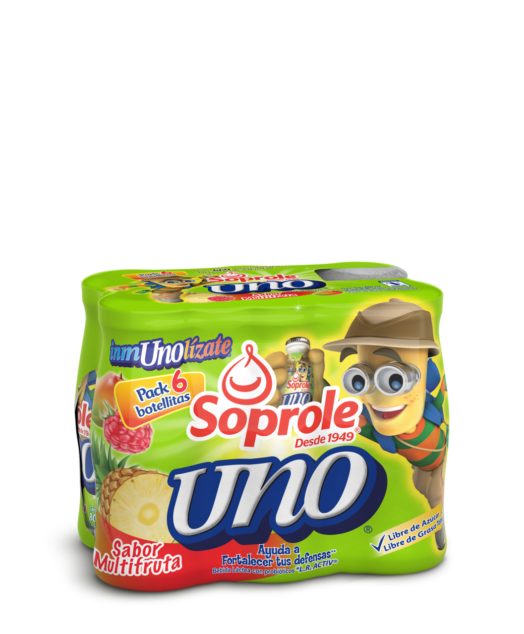 Soprole uno sabor multifruta pack 6