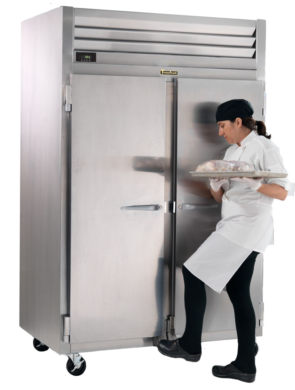 EZ-Open Foot Pedal In Use by Foodservice Operator