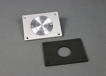 Brushed Alum. Cover Plate, 830CKTCAL-1