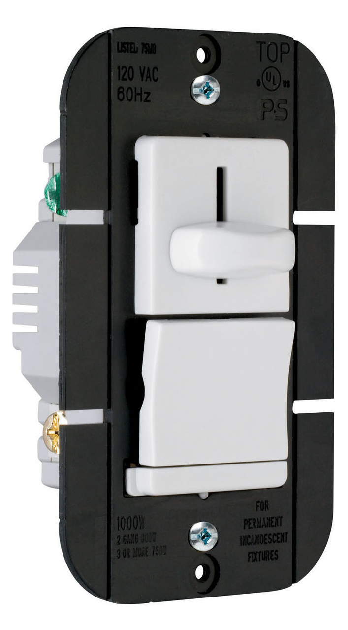 LS Series Incandescent Slide Dimmer, LS1000PW