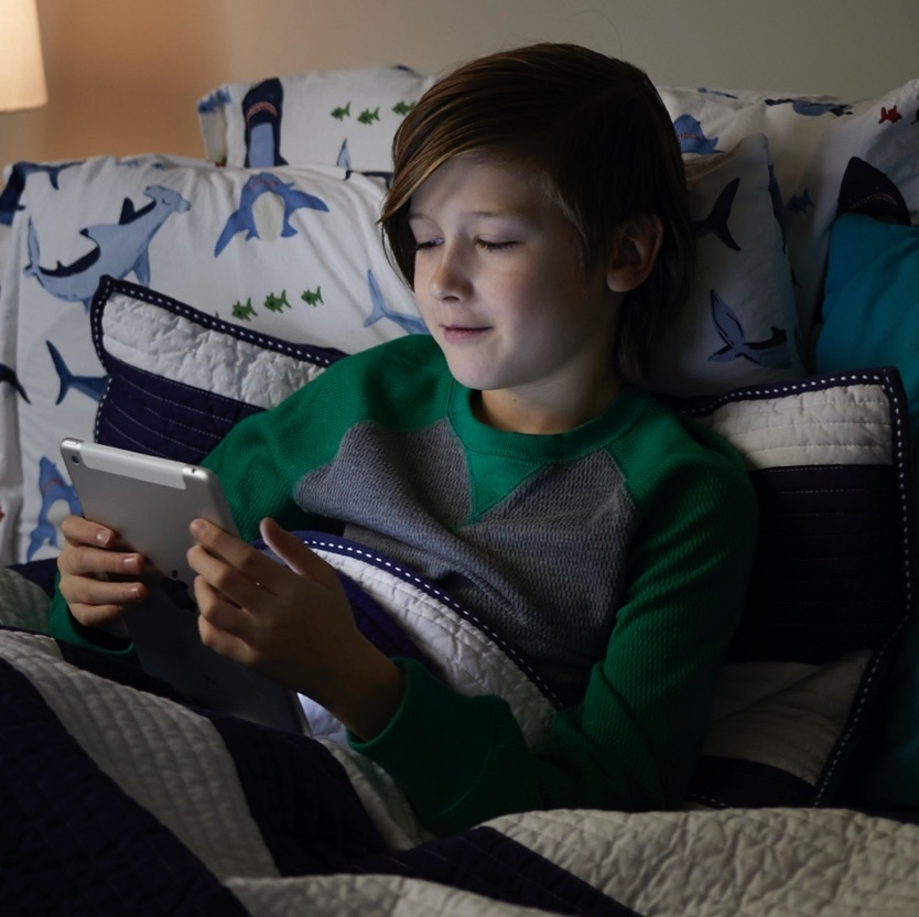 Image of a child using an iPad